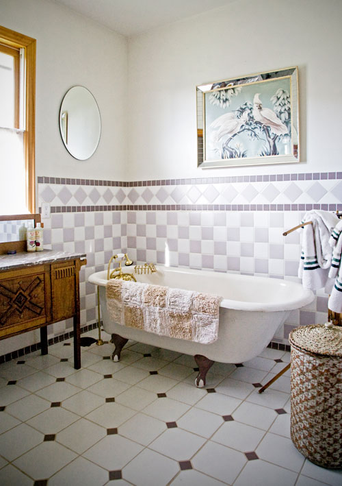 Photo: Monteillet Farm Stay - Bathroom with Claw Foot Tub at The Gite (Holiday Home)