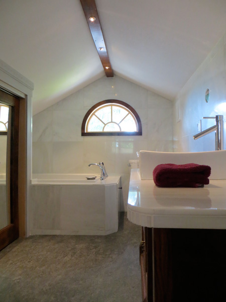 photo: Farm Stay at the Gite — Private en suite bath | Monteillet Fromagerie
