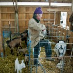 Pierre-Louis Monteillet with Goats and Kids Photo by Steve Scardina