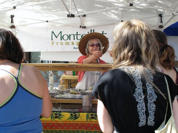 Joan Monteillet at the Portland Farmers Market.