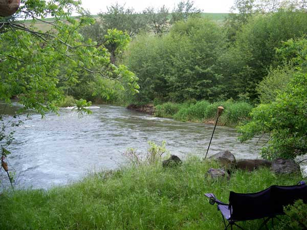 Photo of Chairs along the Touchet River
