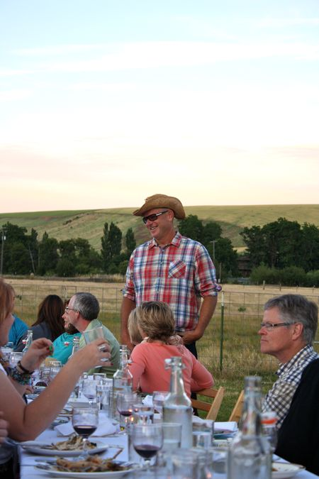 photo of the founder—2011 Outstanding in the Field Dinner—photo by The Farm Chicks