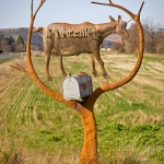 The Monteillet Mailbox with Goat Sculpture Photo by Steve Scardina.