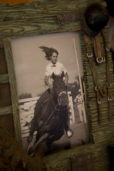 Framed Photo of Joan Monteillet Riding at Age 13 Photo by Steve Scardina