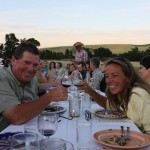 photo of the winemakers, Rulo Winery—2011 Outstanding in the Field Dinner—photo by The Farm Chicks
