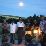 photo: The chef (second from right) and crew—2011 Outstanding in the Field Dinner —The Farm Chicks